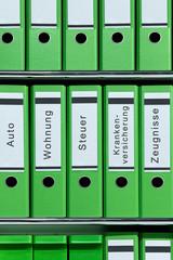 Ordner, grün, Ordnung, Unterlagen