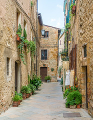 Scenic sight in Pienza, Province of Siena, Tuscany, Italy.
