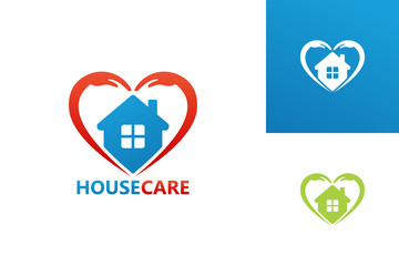 House Care Love Logo Template Design Vector, Emblem, Design Concept, Creative Symbol, Icon