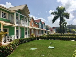 colored houses in dominican republic