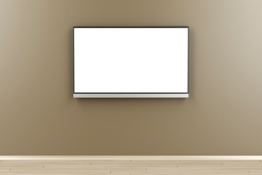 Tv with blank screen in the room