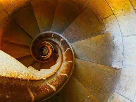Spiral Stairs Fibonacci Building