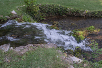 A small waterfall at a Missouri park is a relaxing outdoor atmosphere.