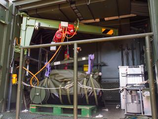 Innenausstattung eines Versorgungs-LKW der Bundeswehr
