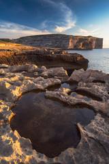 Majestic Gozo coastline. Dwejra Bay, Malta