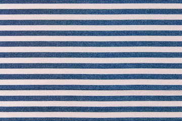 Blue and white stripes fabric background,  kitchen towel texture.