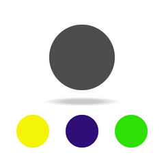 ball colored icons. Elements of Geometric figure colored icons. Can be used for web, logo, mobile app, UI, UX