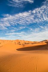 Photo sur Plexiglas Secheresse Vertical view of Sahara desert