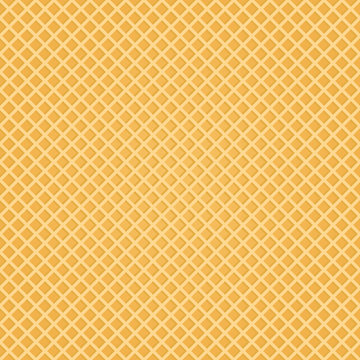 Seamless Wafer Background. Appetizing repeat wafer texture. Vector Illustration.