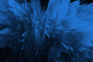 Abstract blue with black digital screen glitch effect texture.