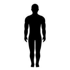 Athlete body silhouette vector icon