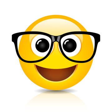 Happy nerd emoji