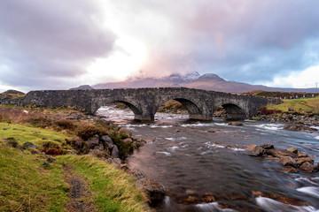 Sligachan Bridge and Mountains