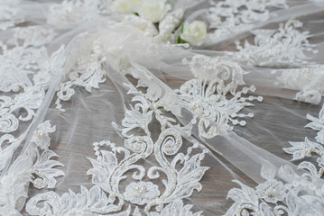 The texture of lace