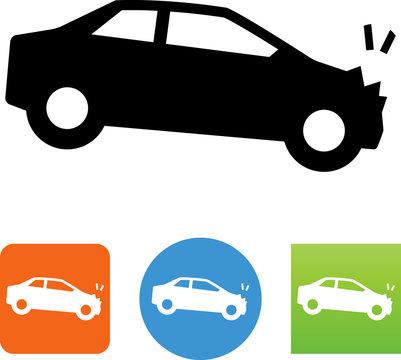 Auto Accident Icon - Illustration