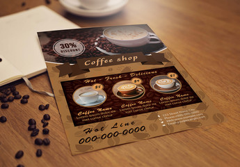 Coffee Shop Flyer Layout
