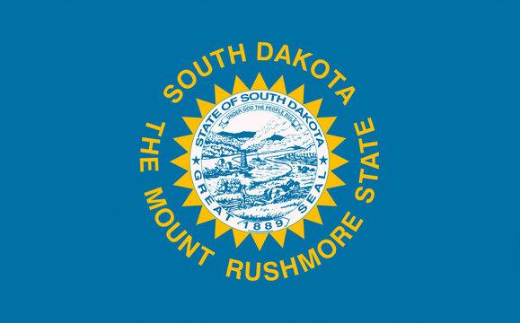South Dakota USA State Flag