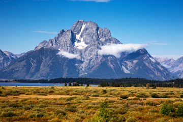 Mount Moran from Willow Flats in Grand Teton National Park, Wyoming