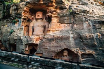 Gwalior fort Jain temple statue in India