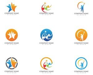 Star people community logo design