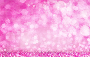 Valentine's Day. Bright pink light Bokeh effect. Holiday Background.