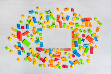 multicolored toys blocks and bricks