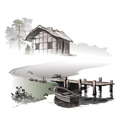Fisherman's hut