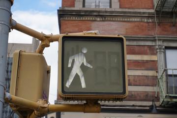 primo piano semaforo verde