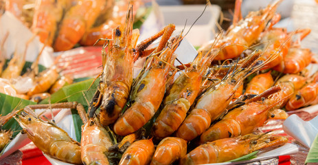 Grilled shrimp, Grilled giant river prawn