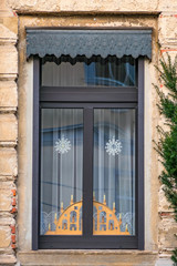 house window with Christmas decoration, Germany