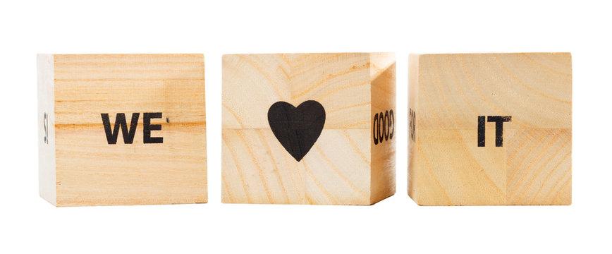 Word Written In Wooden Cube