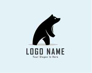 Standing bear logo design inspiration