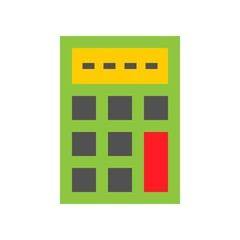 Calculator vector, Online shopping flat style icon