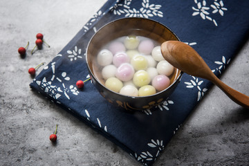 Traditional chinese sweet rice ball