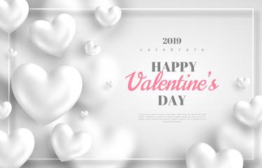 White Valentines Day background