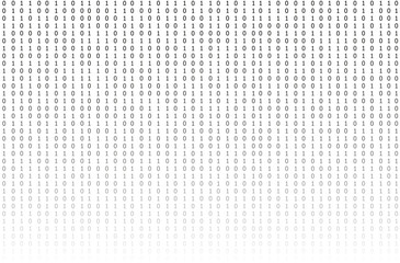 Vector Binary Code Background, Gradient Texture, Technology Concept.