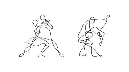 Fototapeta tańcząca para szkic wektor obraz