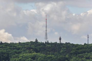 Würzburg Großantennen Wald Frankenwarte