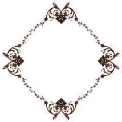 Wood ornament on a white background. Isolated