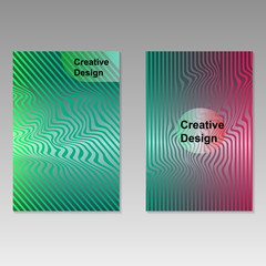 Abstract covers design. Minimalist geometric template. Vector illustration.