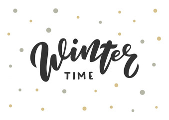 Winter time hand drawn lettering