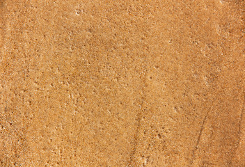 the texture of the wet sand with the water bubbles