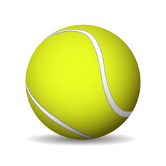 Tennis ball, icons in 3d. Vector illustration