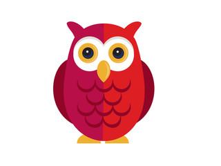 Owl vector on white background