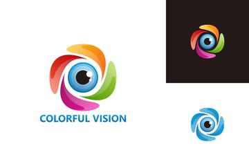 Colorful Vision Logo Template Design Vector, Emblem, Design Concept, Creative Symbol, Icon