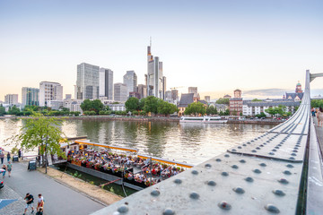 Wall Mural - Downtown of Frankfurt am Main with skyscrapers and river, Germany