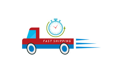 truck box fast shipping vector