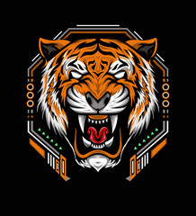 The Tiger head logo