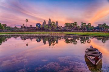 HDR Image of Angkor Wat Temple, Siem Reap, Cambodia