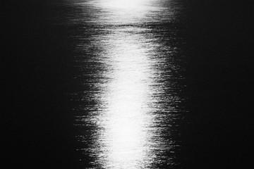 Moon light hitting the water